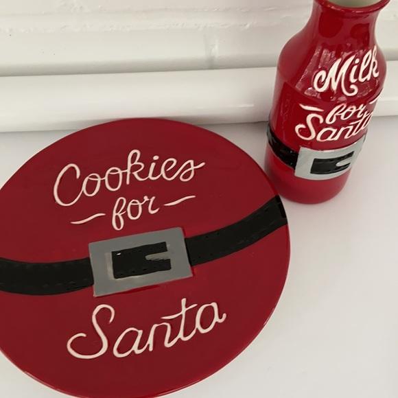 Cookies For Santa Plate Set